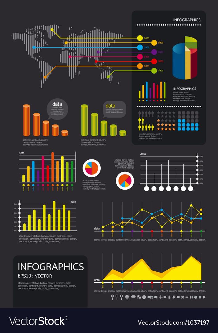 Infographics set vector
