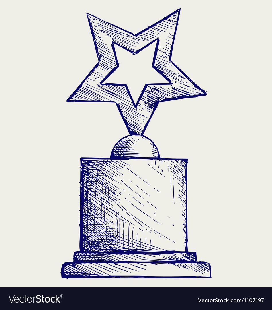 Star award against vector
