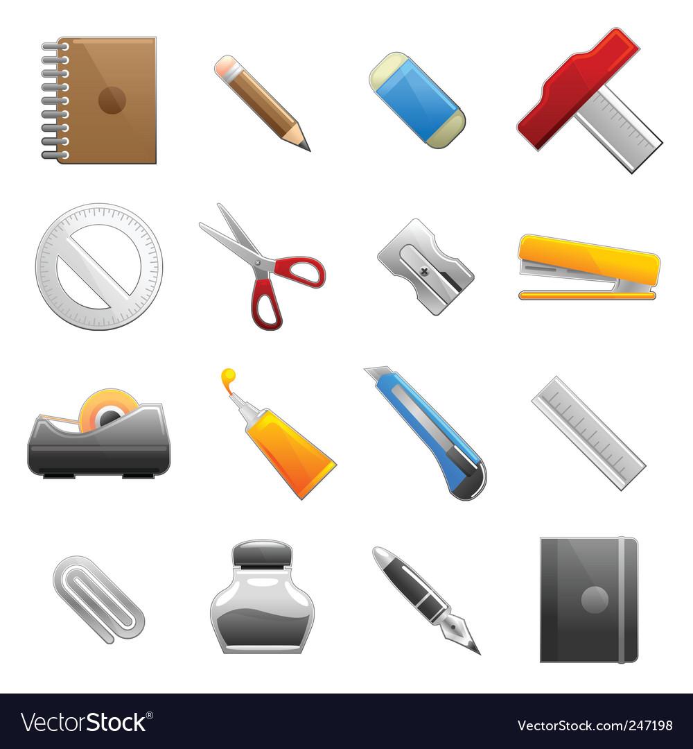 Stationery object set vector