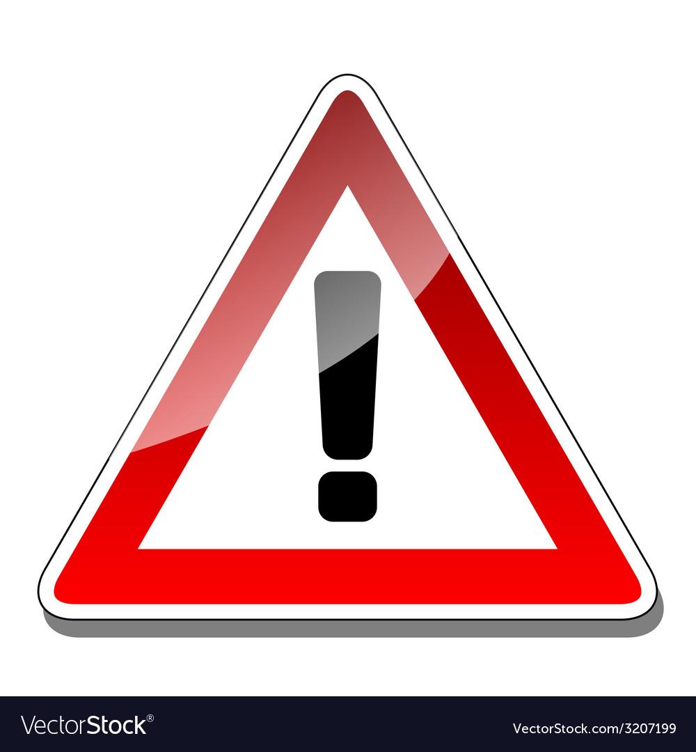 A warning sign vector