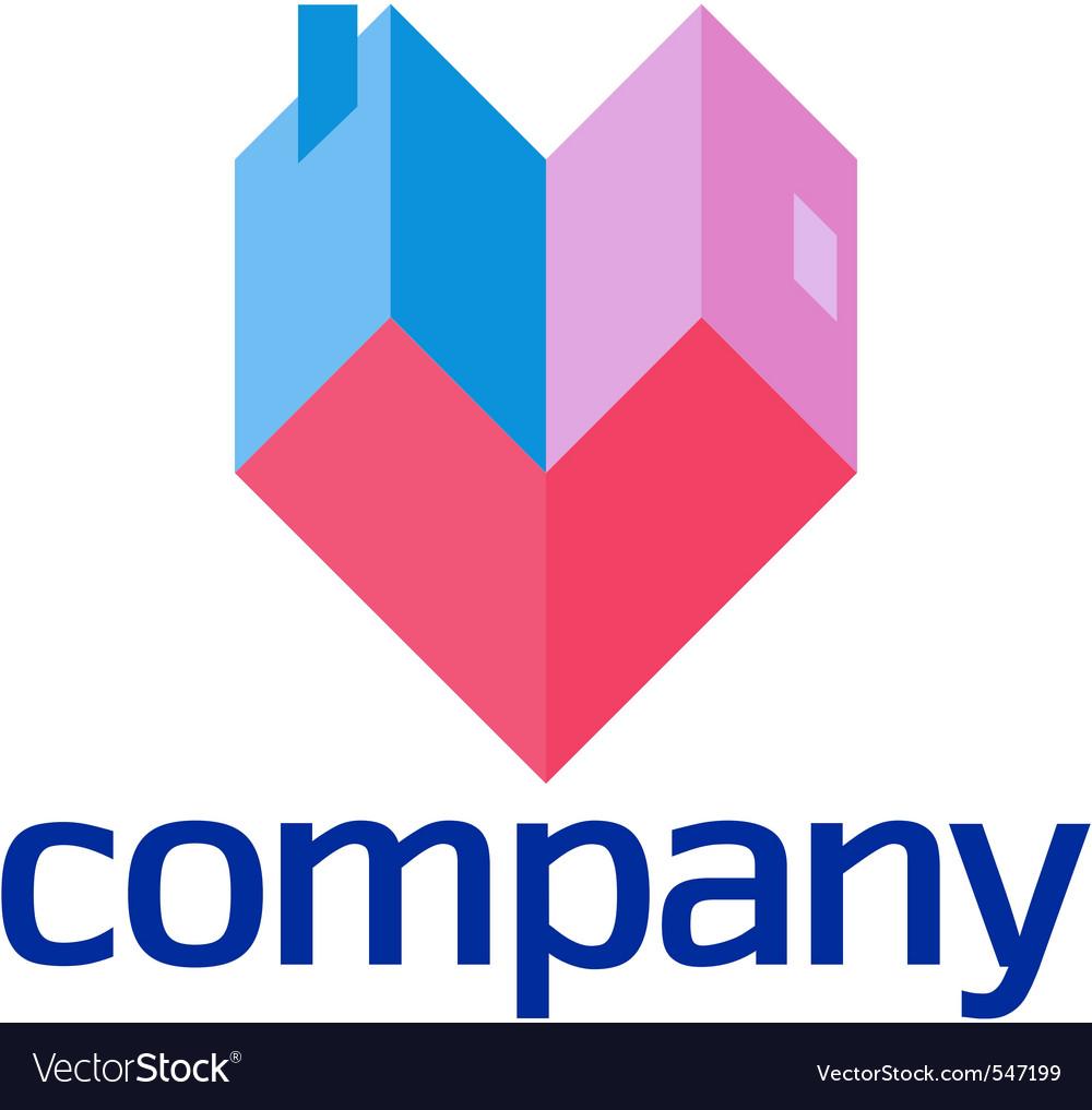 Love house design element vector