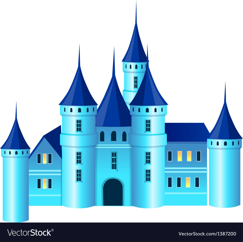 A view of a castle vector