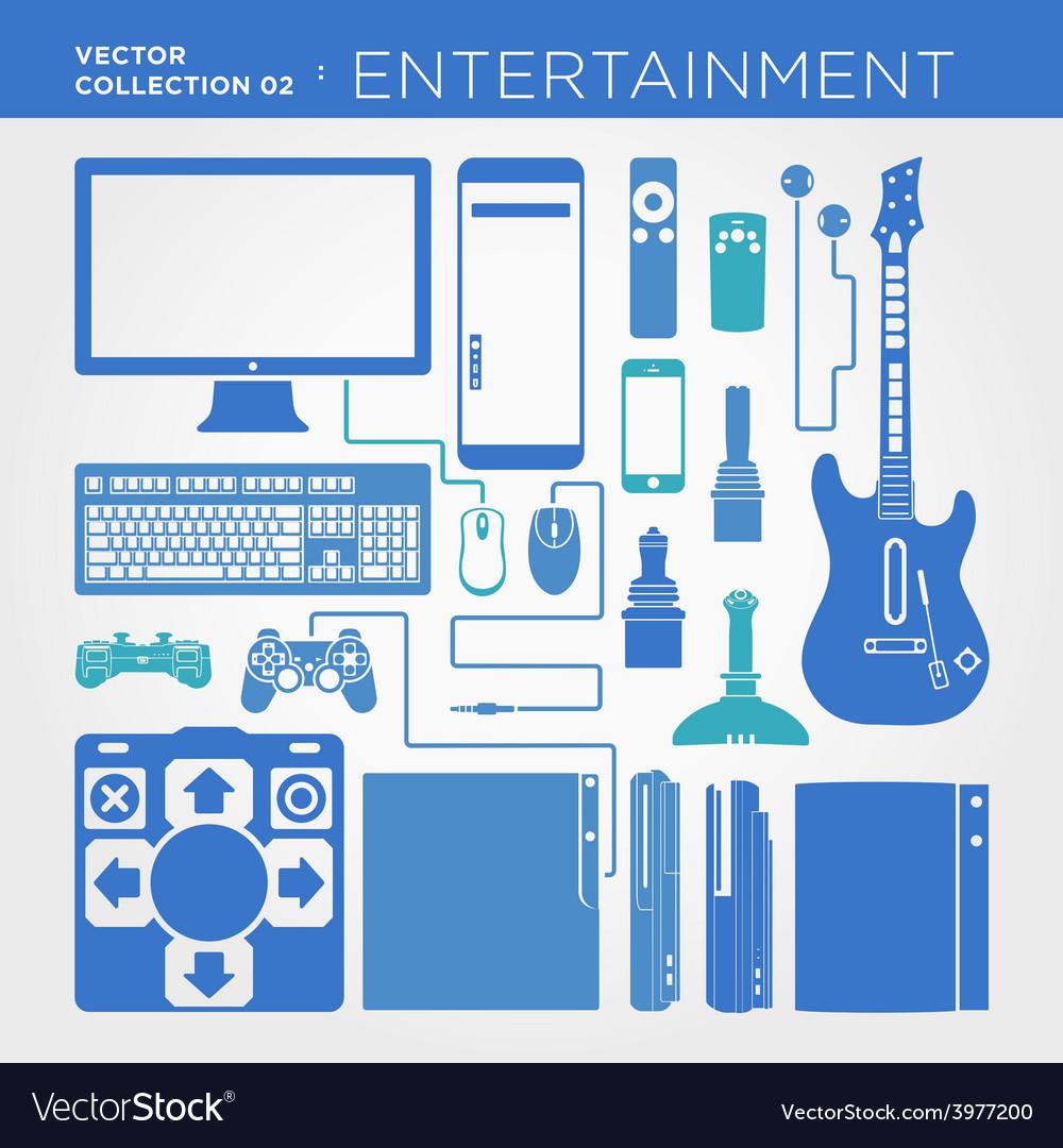 Entertainment collection vector