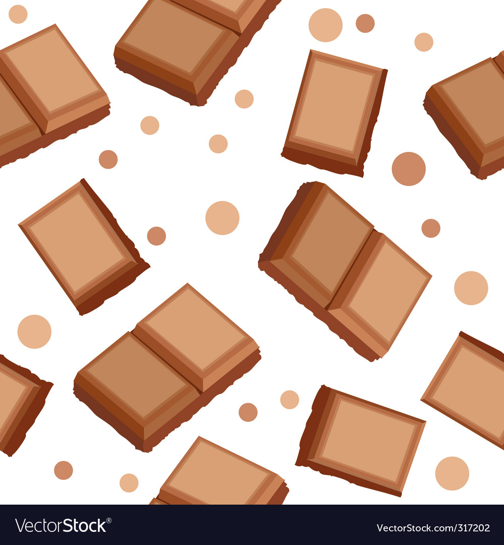 Seamless pattern with choco pieces vector