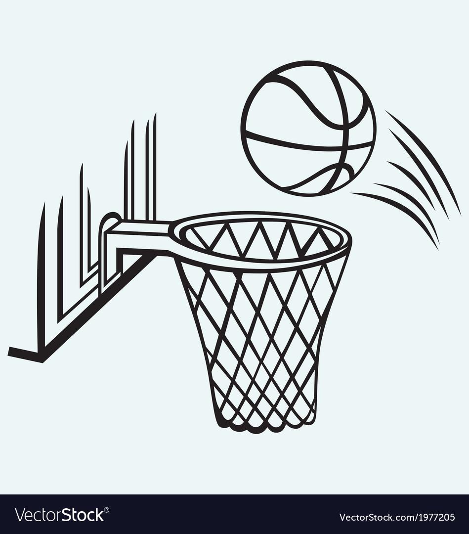 Basketball board vector