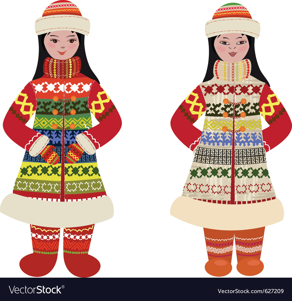 Traditional costume vector