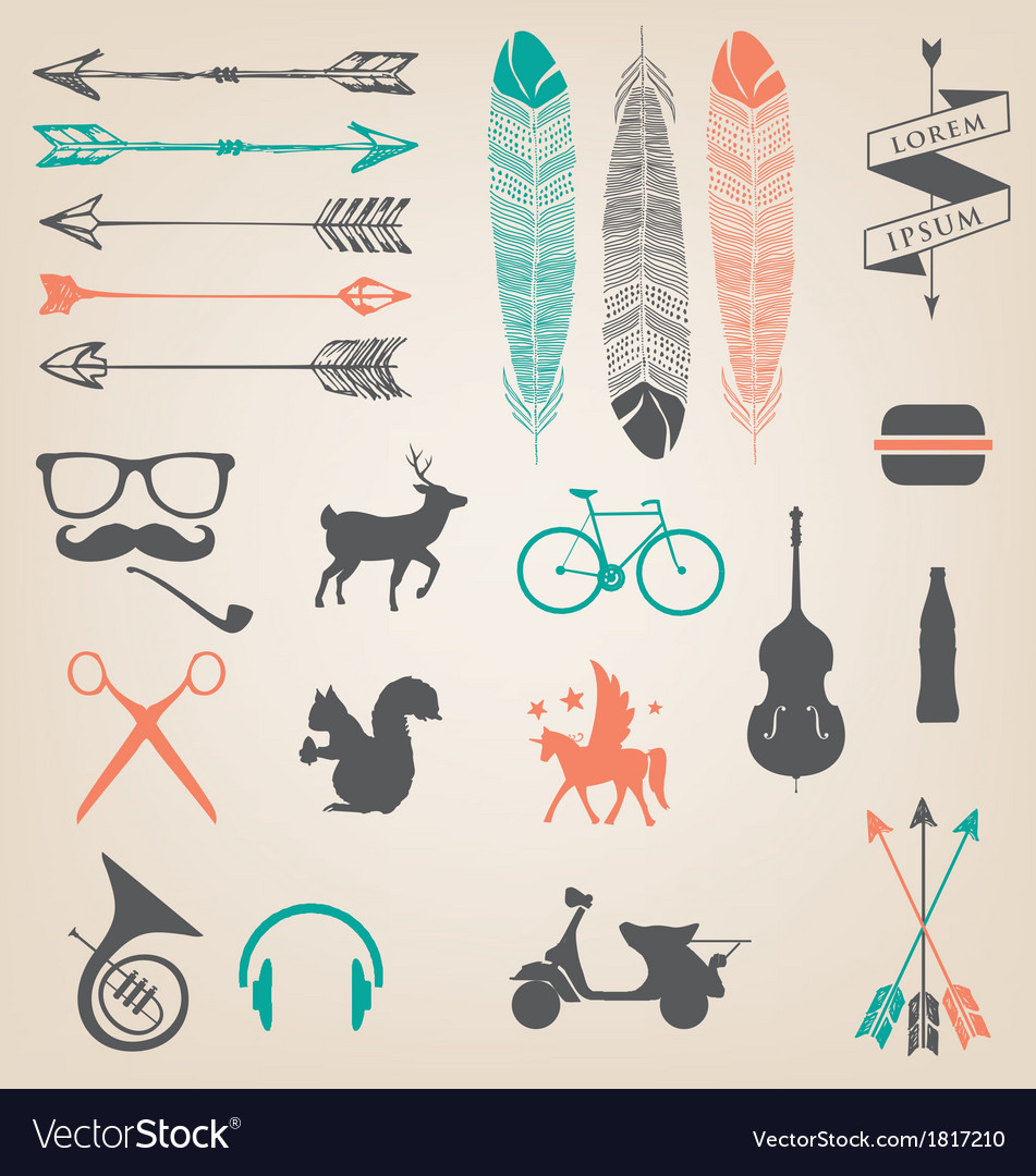 Hipster trend vector