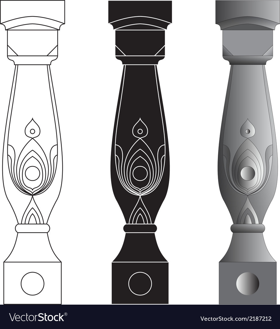 Set of three balusters vector