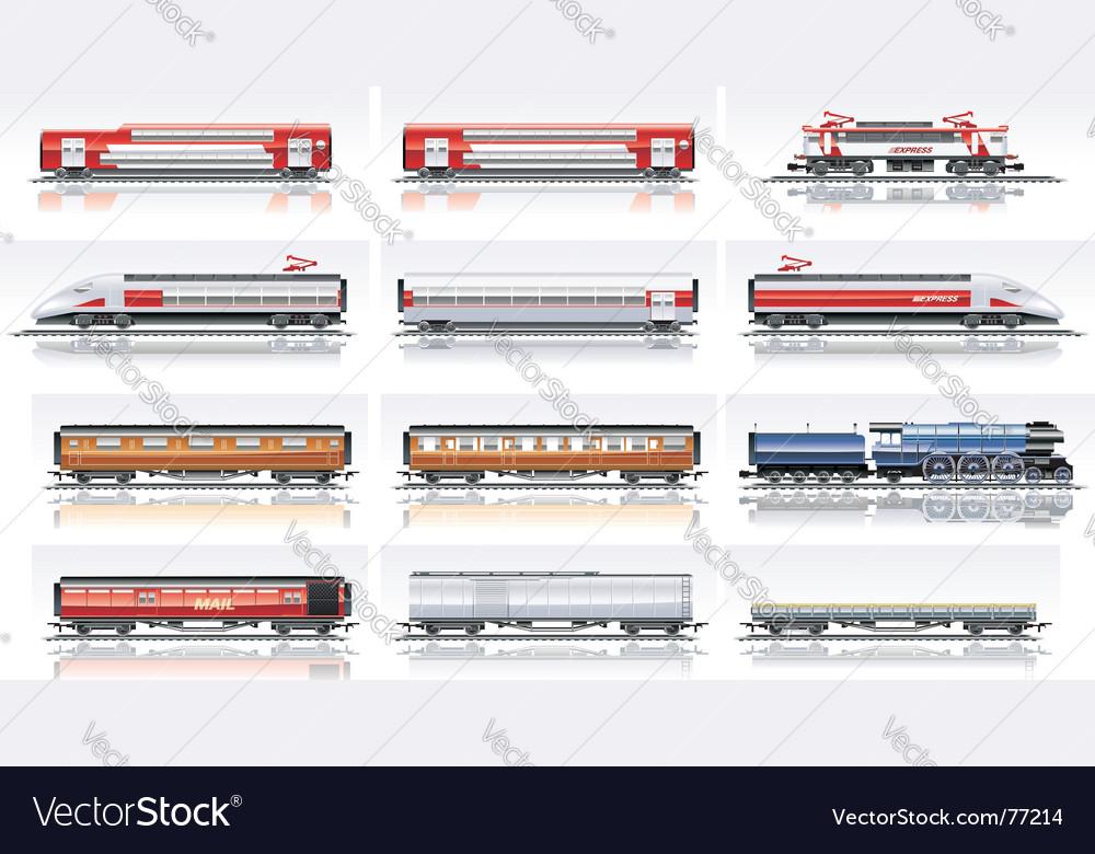 Railroad transportation vector