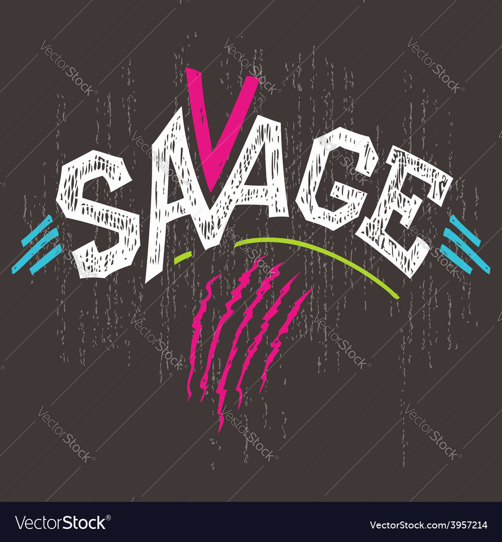 Savage t-shirt graphics vector