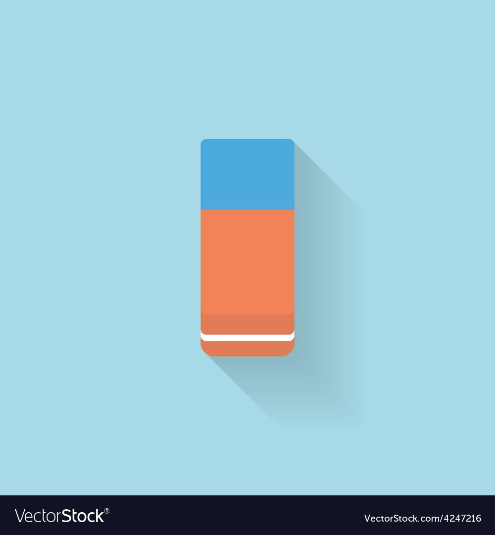 Flat web internet icon eraser vector