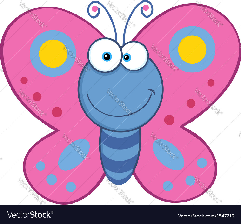 Butterfly cartoon vector