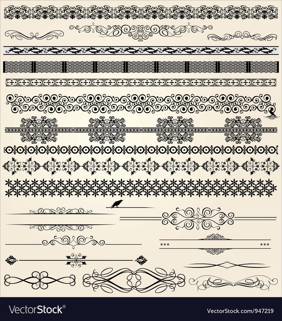 Calligraphic and decor design elements vector