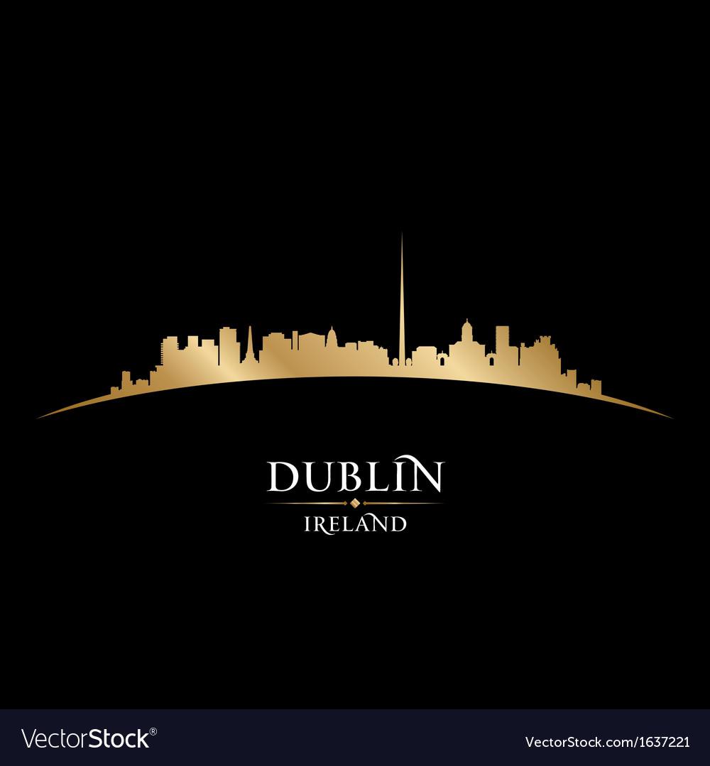 Dublin ireland city skyline silhouette vector