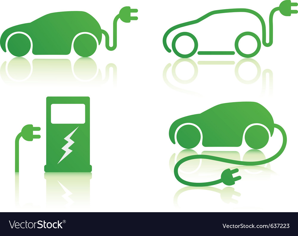 Electric powered car vector