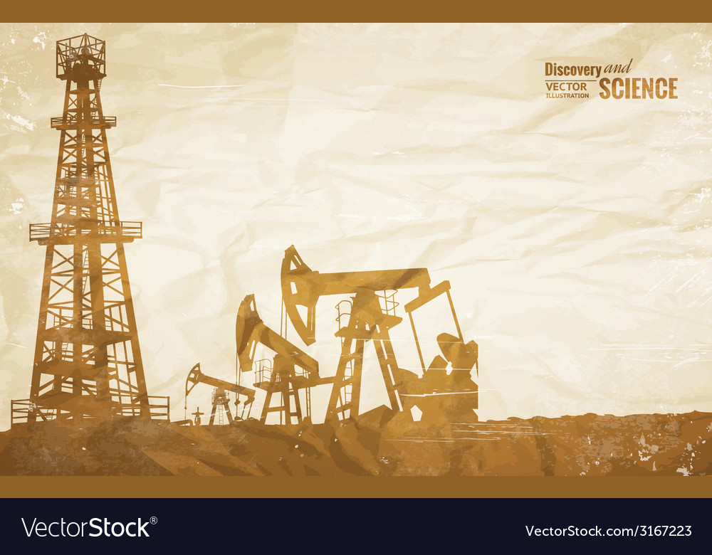 Oil plant design vector