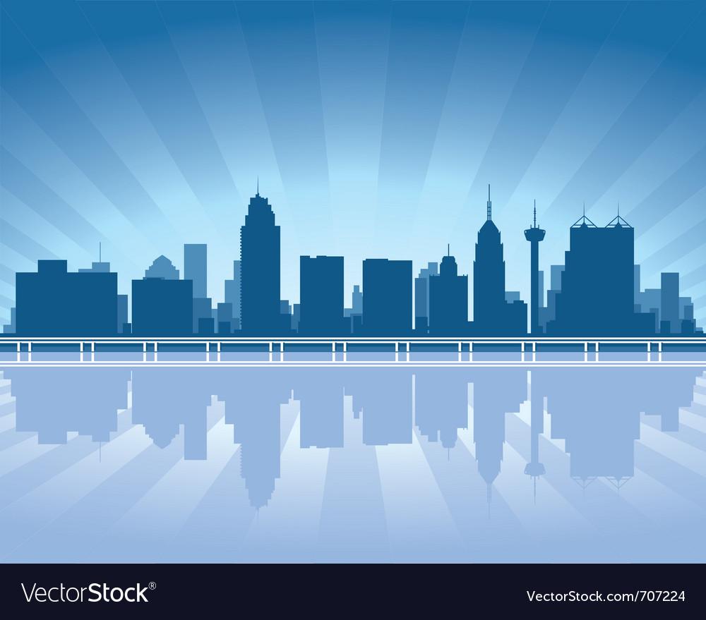 San antonio skyline vector
