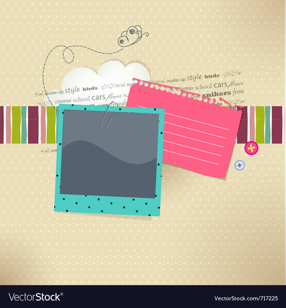 Photo and text vector