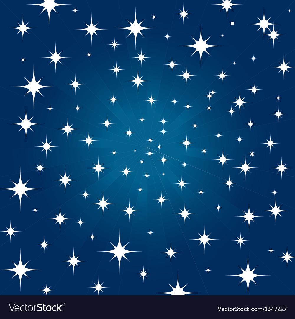 Beautiful night star vector