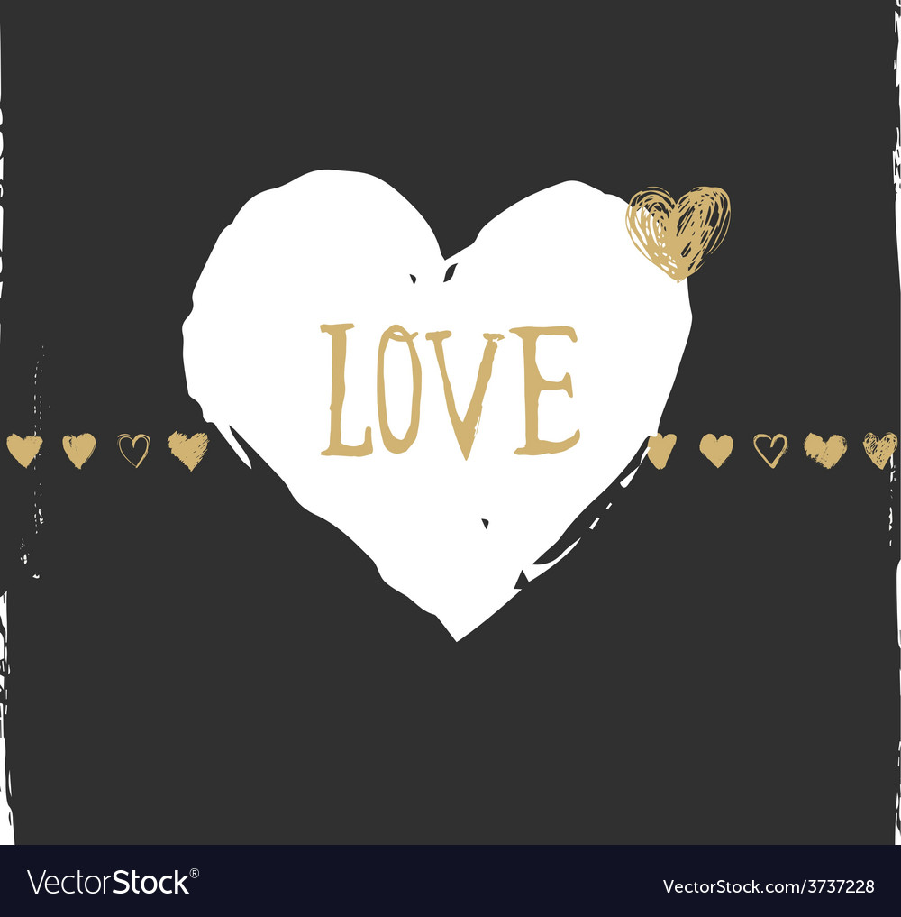 Valentines day and wedding greeting card and vector