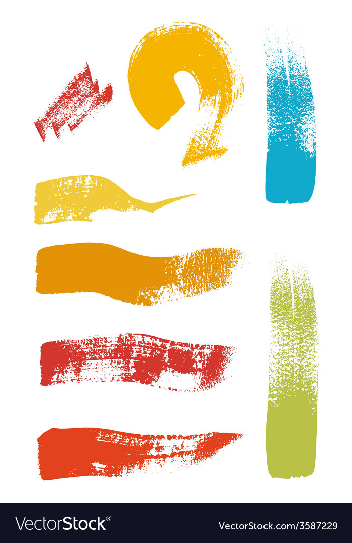 Grunge brush stroke set vector