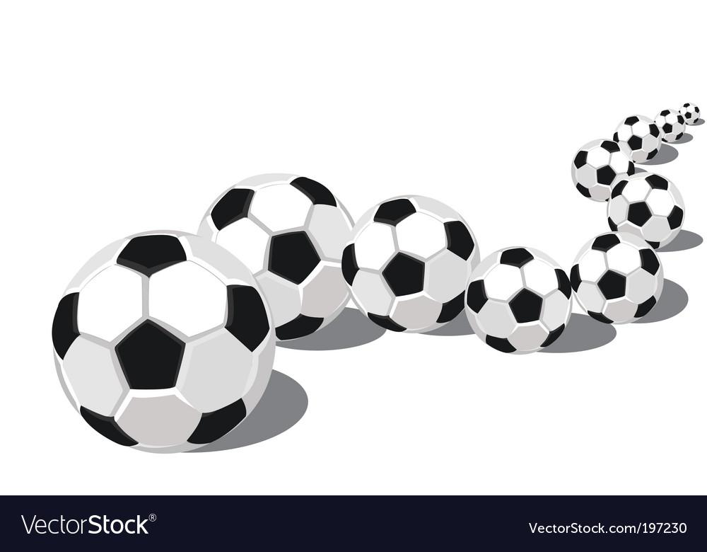 Soccer balls in a row vector