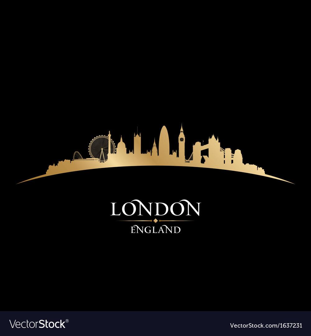 London england city skyline silhouette vector