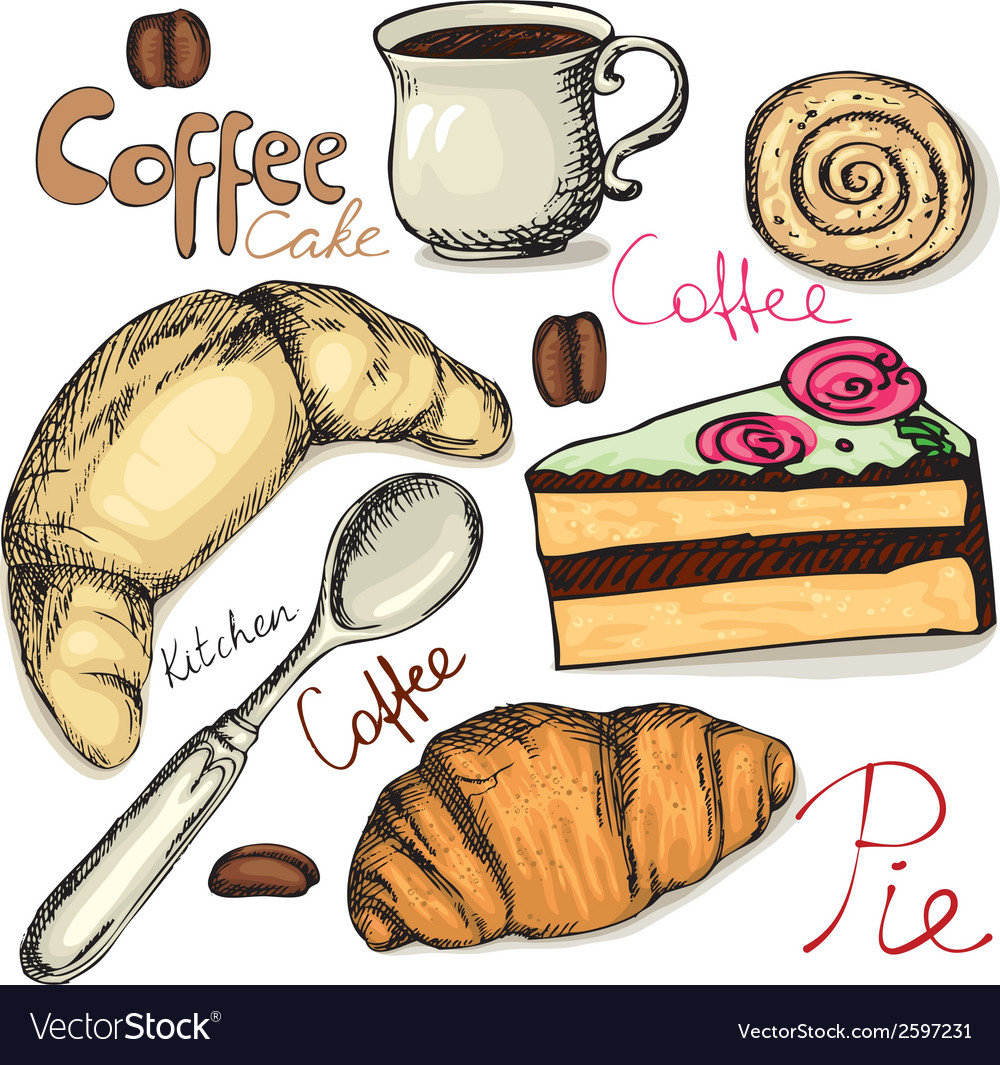 Tea and coffee accessories vector