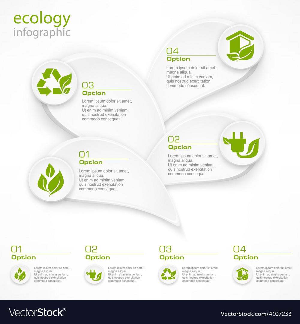Infographic petal elements vector