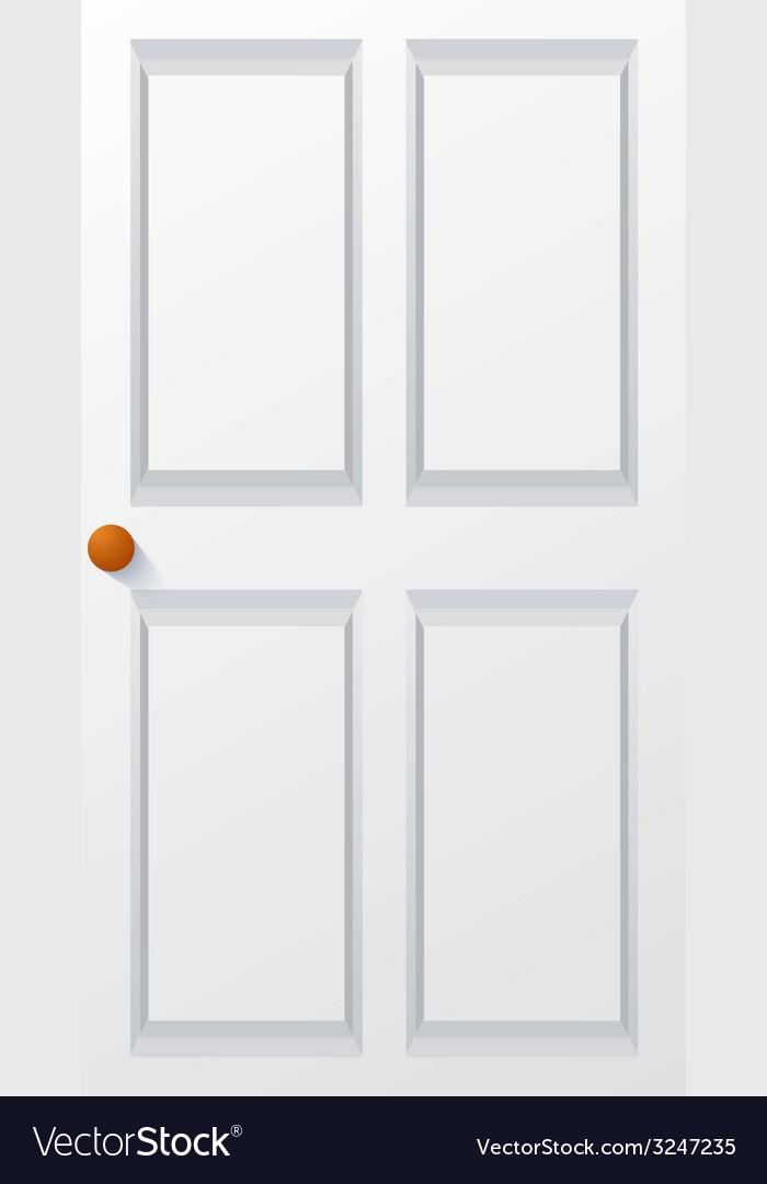 Modern white door vector