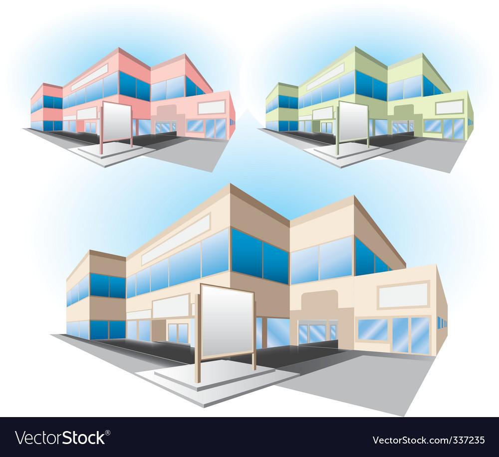 Shopping center building vector