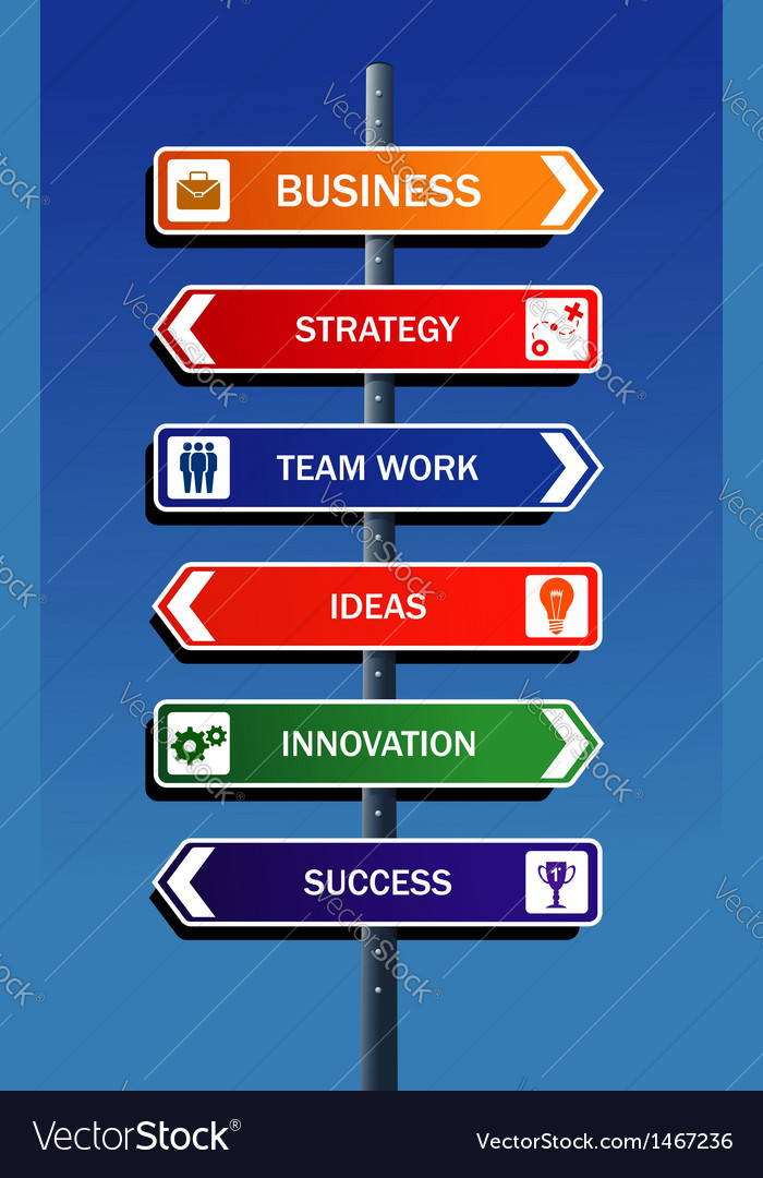 Business strategy to success vector