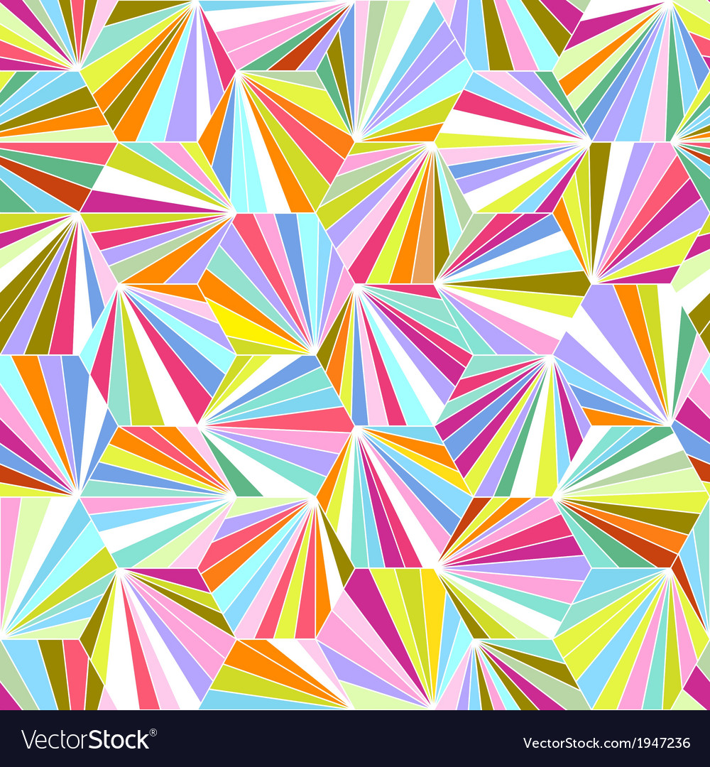 Geometric colorful seamless background vector
