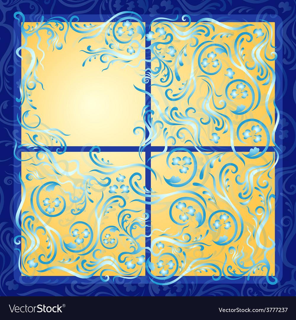 Lighting frozen window vector