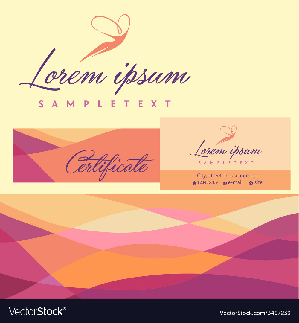 Logos and identification business card banner vector