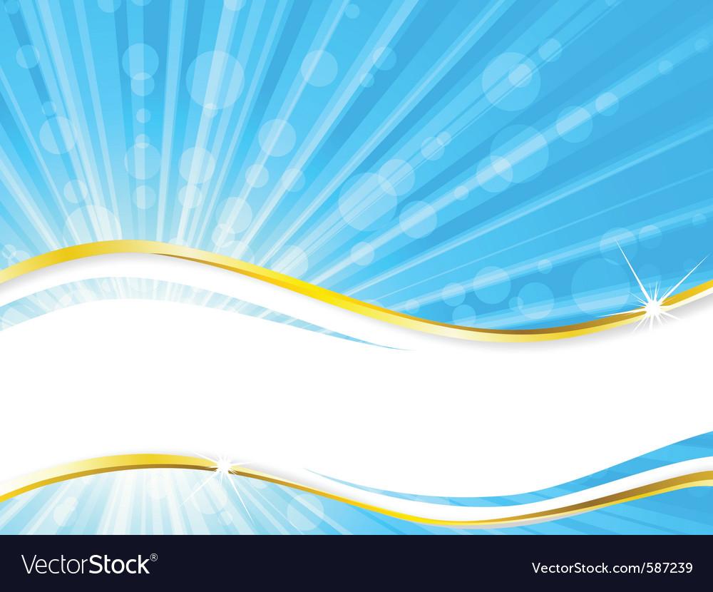 Sunshine banner vector