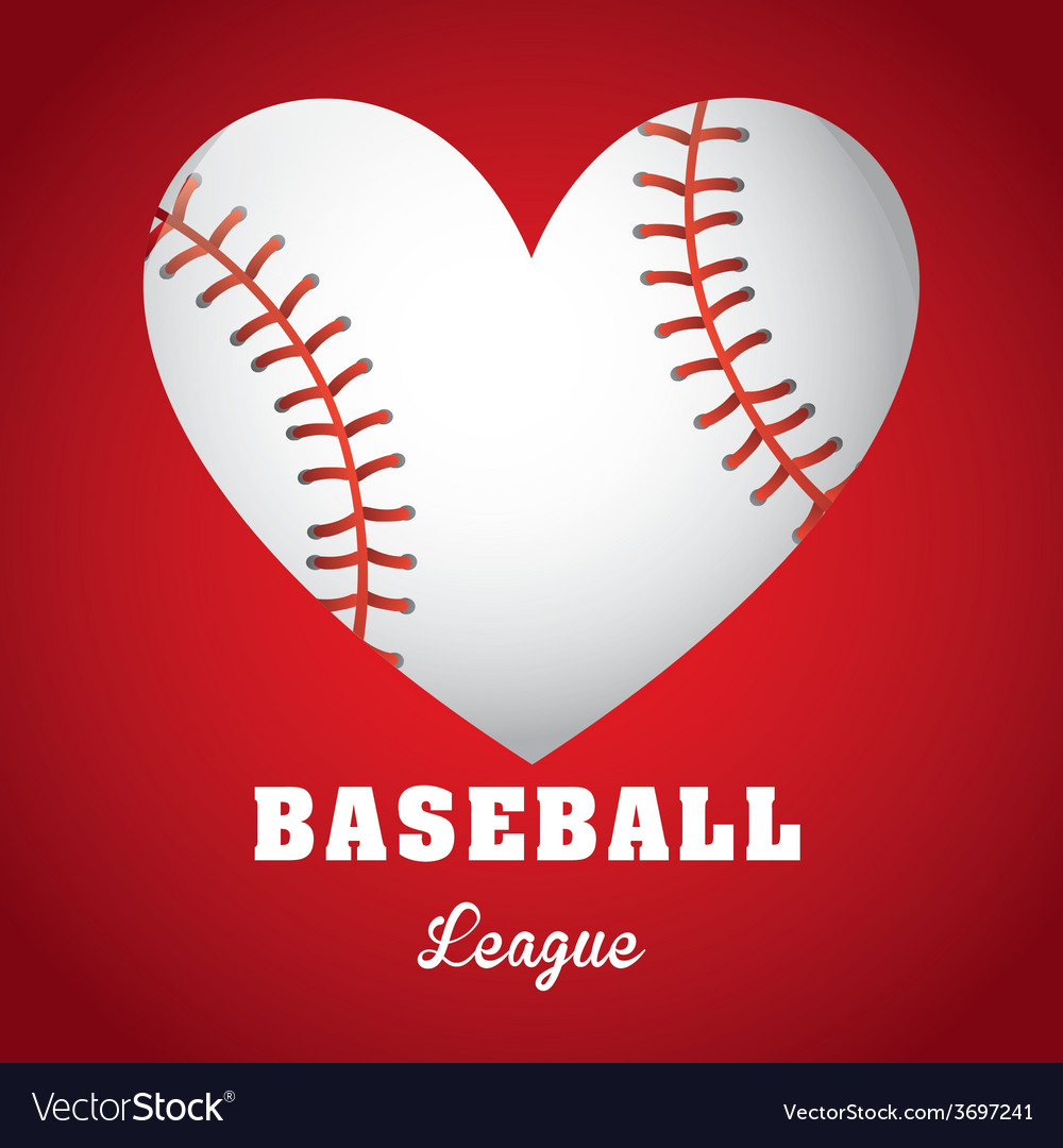 Baseball game vector