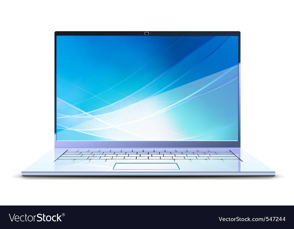 Netbook laptop vector
