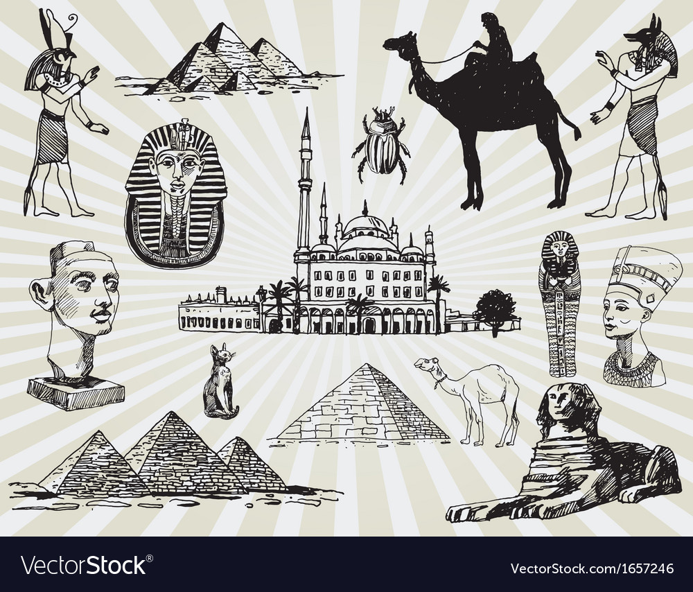 Egyptian set vector