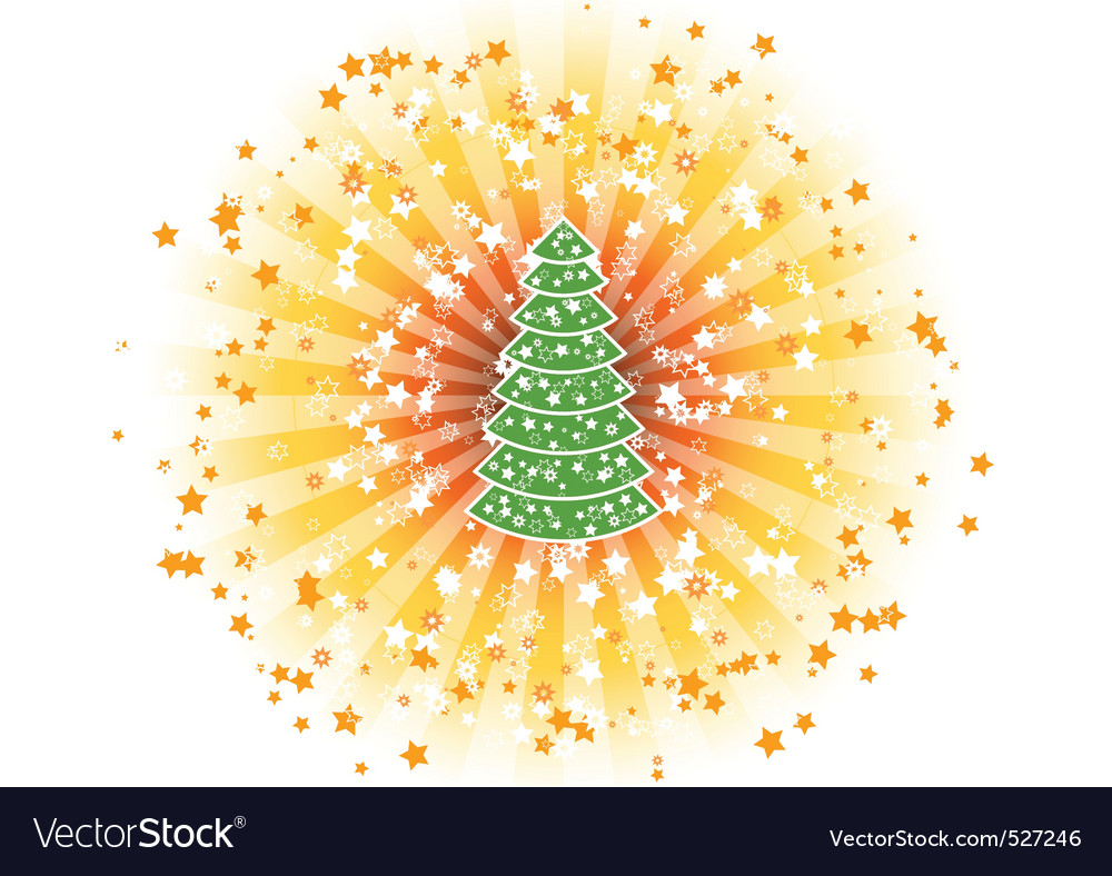 Shine tree vector