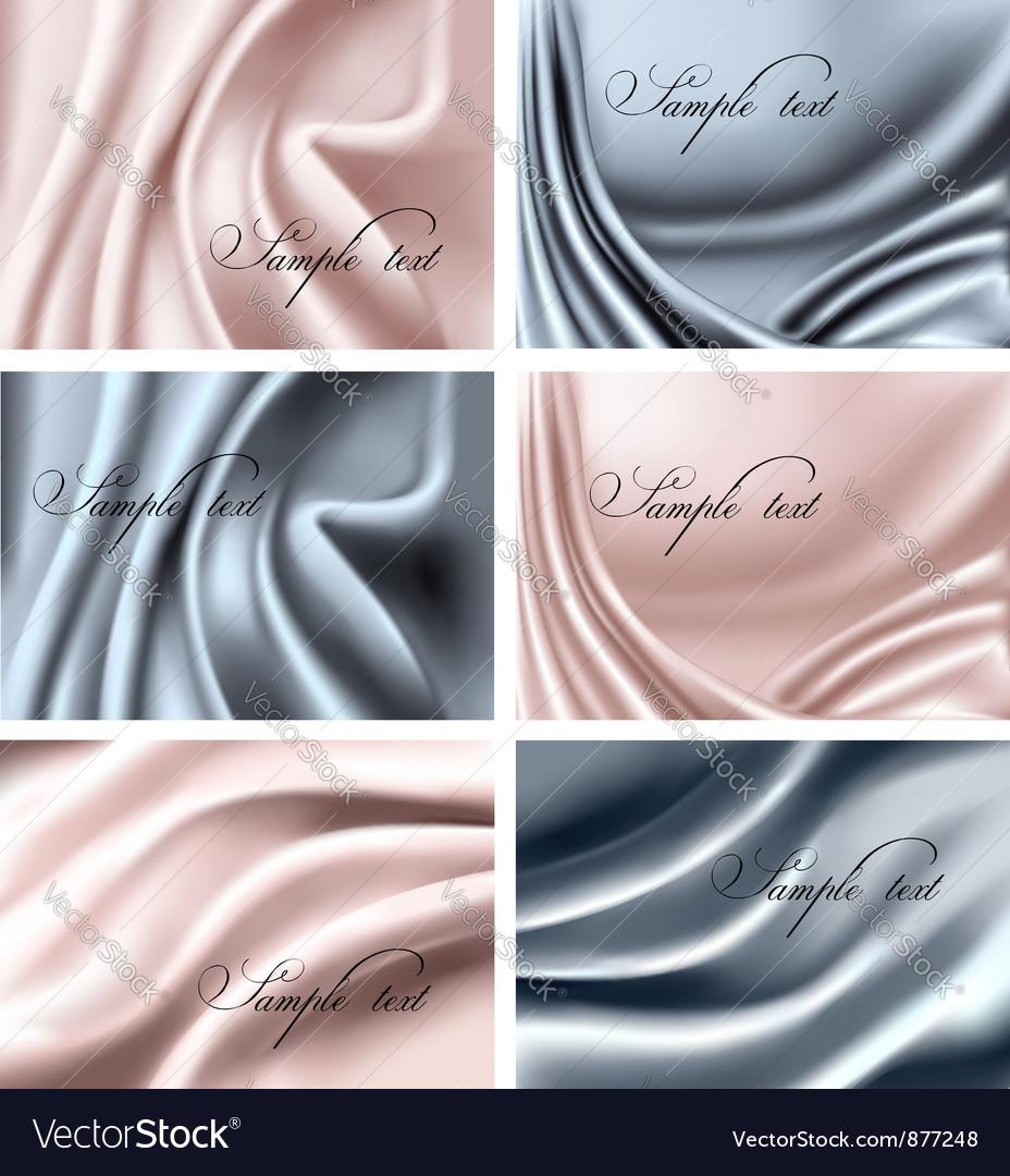 Elegant colorful silk vector