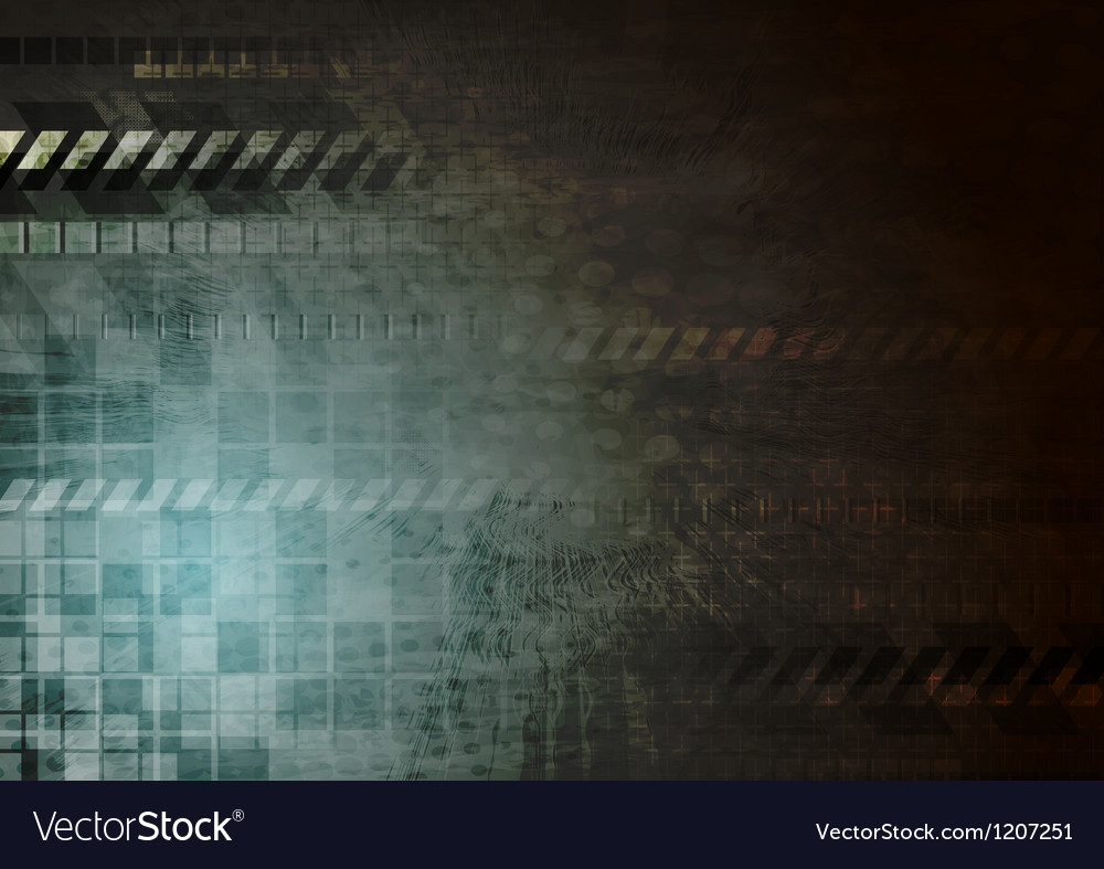 Dark hi-tech grunge background vector