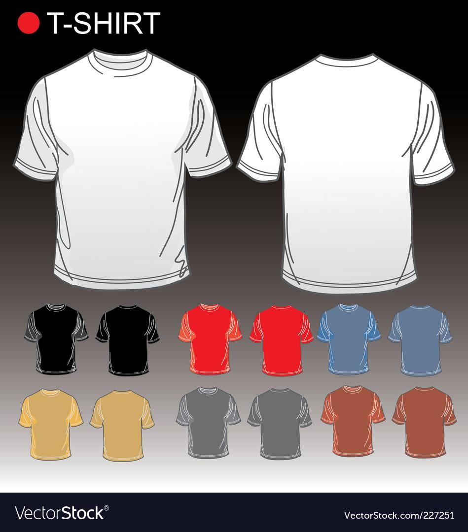 Set of blank tshirts vector
