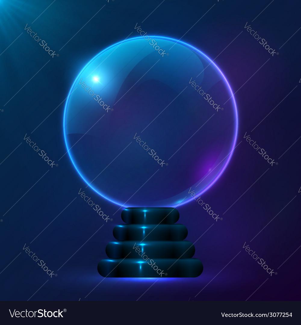 Blue magic spiritual ball vector