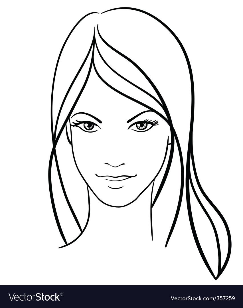 girl face vector icon vector