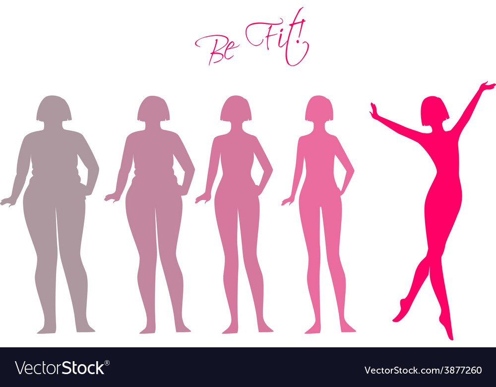 Be fit woman silhouette images vector