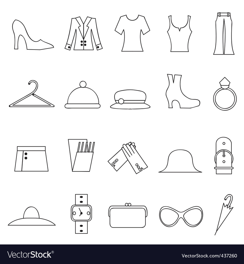 Woman fashion and clothes icon vector