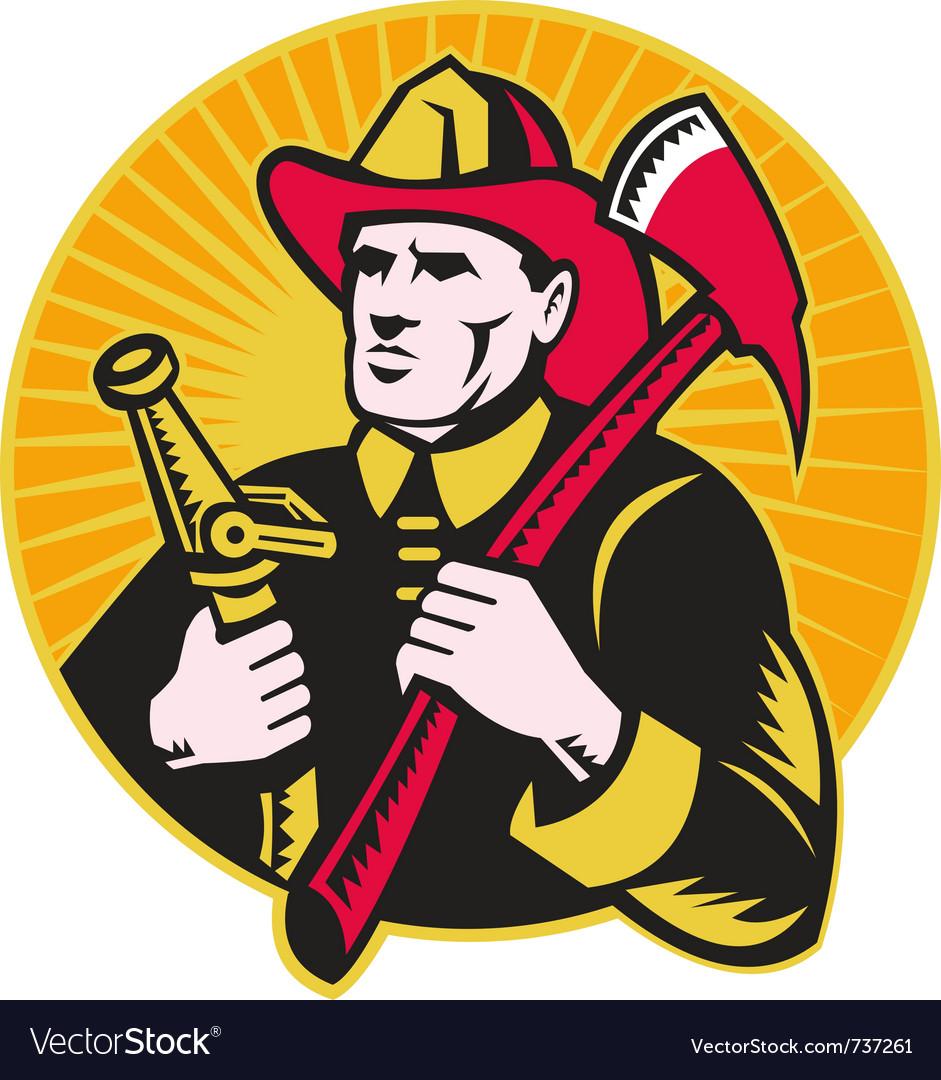 Firefighter symbol vector