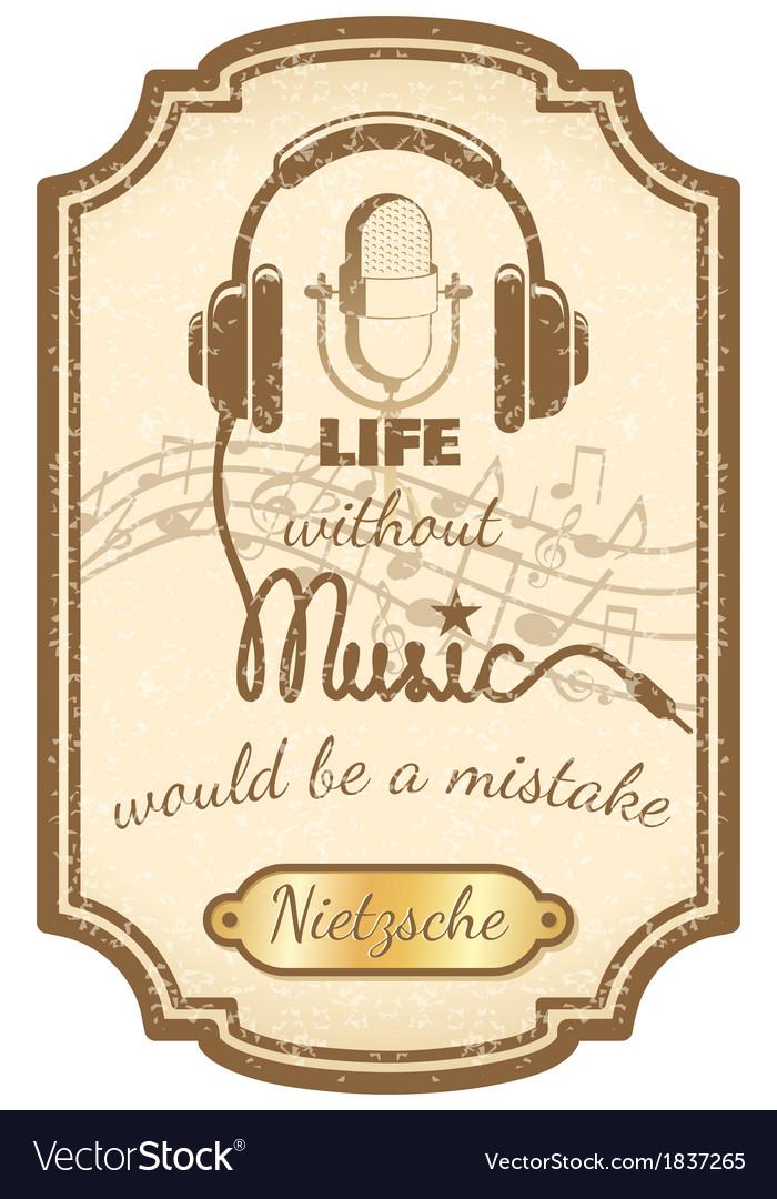 Retro live music poster vector