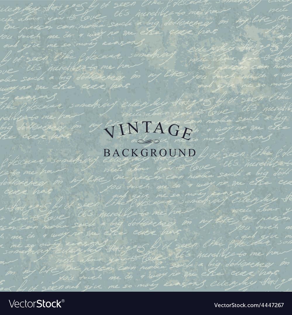 Manuscript vintage background template vector